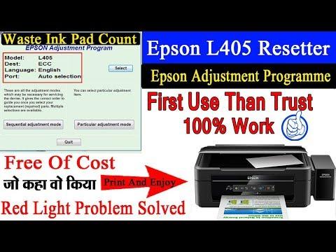 Epson L405 Adjustment Program Free Download With Key  Waste