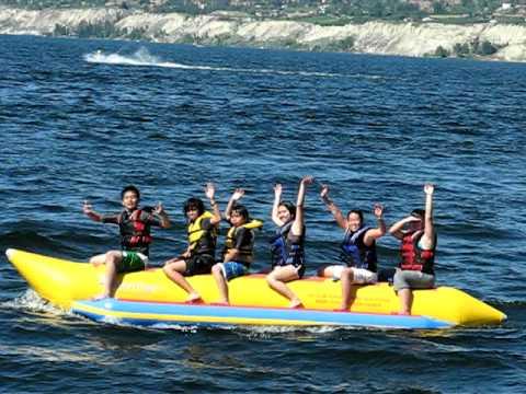 Epic Banana Boat Ride Fail in Penticton BC