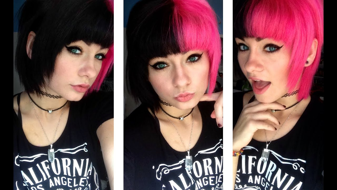 Dying My Hair Pink And Black Heythereimshannon Youtube