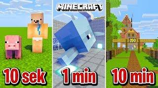 Minecraft BUDUJĘ ZOO W 10 SEKUND, 1 MINUTĘ I 10 MINUT!