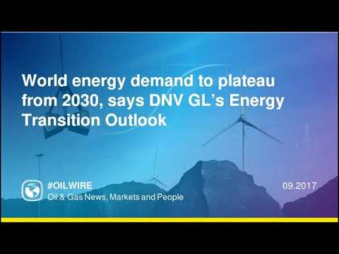 World energy demand to plateau from 2030, says DNV GL's Energy Transition Outlook