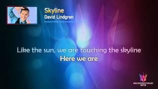"David Lindgren ""Skyline"" -- (On screen Lyrics)"