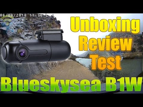 Blueskysea B1W WiFi Mini Dash Cam Car Camera 1080p : Unboxing ,Review & Test