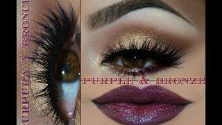 @auroramakeup -Maquillaje en Bronce y Purpura (bronze & purple makeup)