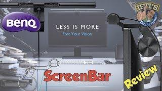 BenQ ScreenBar E-Reading Lamp - Auto-Dimming & Hue Adjustment! Ingenious Monitor Lamp!! - REVIEW