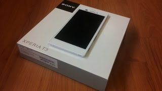 Sony XPERIA T3 [Unboxing]