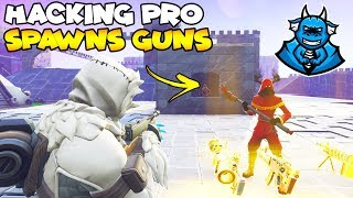 Pro Hacker Spawns Any Gun! 😱 (Scammer Gets Scammed) Fortnite Save The World