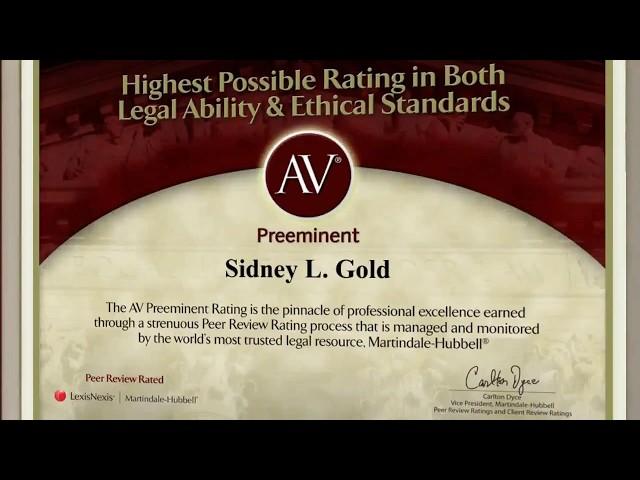 Philadelphia Employment Lawyer - Sidney L. Gold - AV Rating