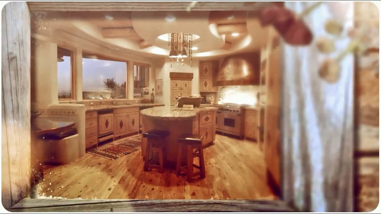 Rustic log home kitchens youtube Home kitchen