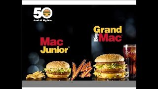 Mac Junior vs Grand Big Mac | Food Challenge