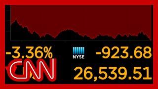 Dow drops sharply as coronavirus cases surge