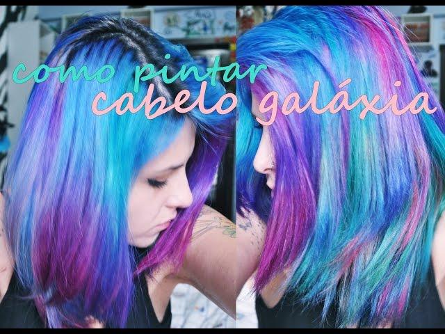 Como pintar cabelo GAL�XIA  ? Galaxy Hair ?