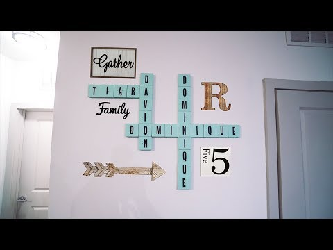 SCRABBLE WALL ART ON A BUDGET(DIY)