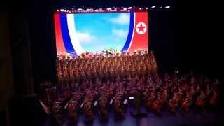 Начало. Гимн России и гимн Северной Кореи.