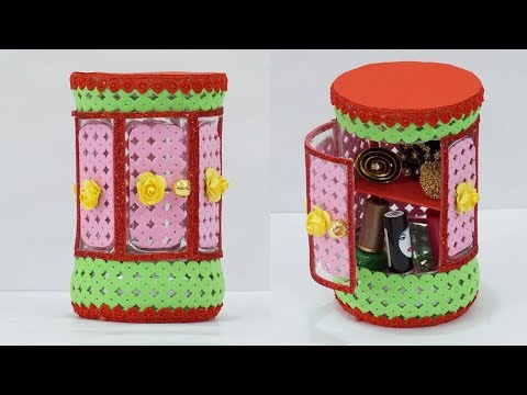 Superrrrr Easy DIY Jewellery Organiser Using Waste Cold Drink Bottle | Plastic Bottle Craft