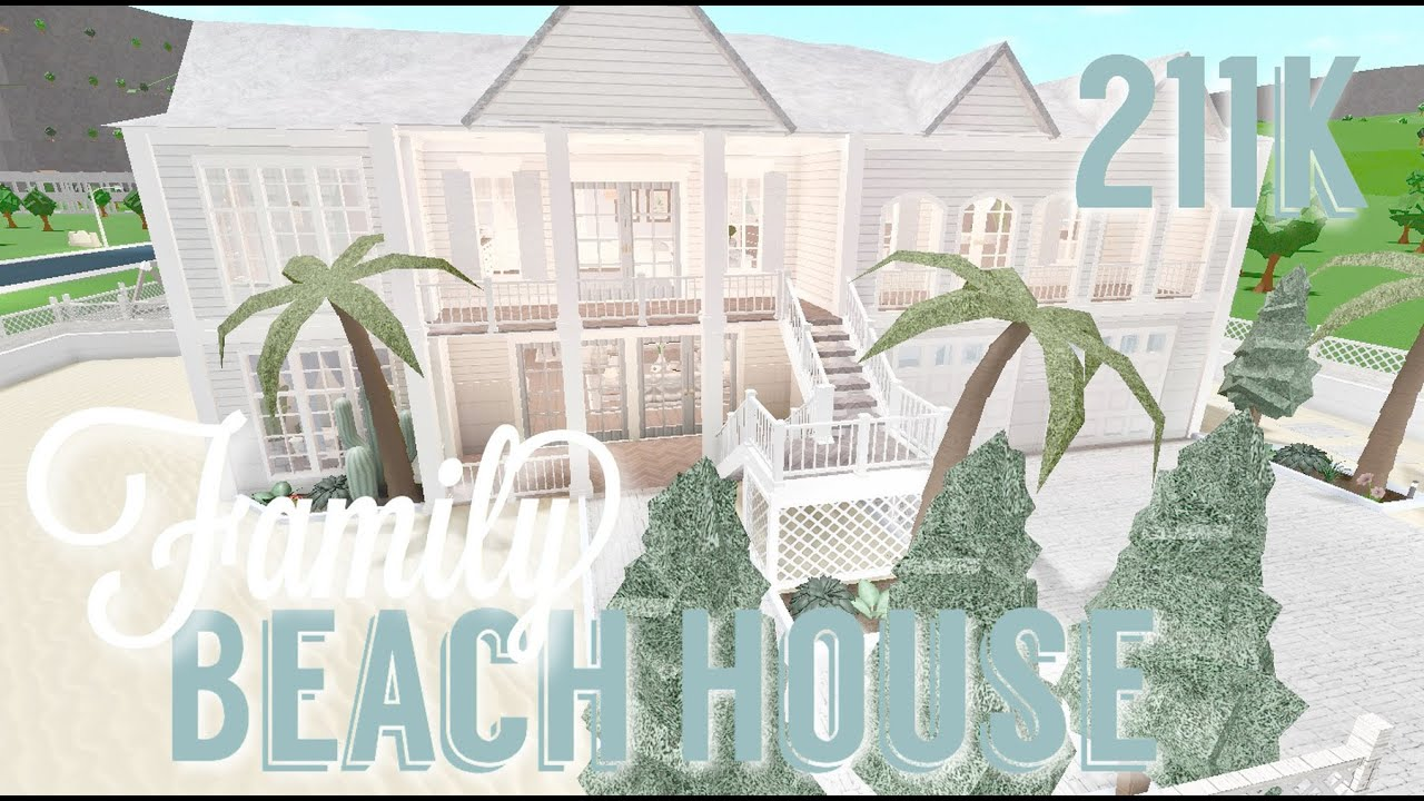 Roblox Videos Beach House Roleplay Roblox Bloxburg 211k Family Tropical Beach House Tour Speedbuild Screenies Youtube