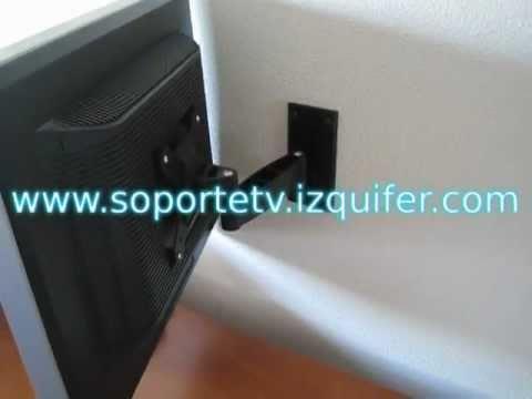 Soporte tv lcd brazo articulado youtube for Soporte mesa tv samsung