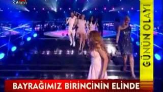 Eurovision 2011 Azerbaijan . Qardaş Türkiyə televiziyalarının təbrik görüntüləri 1