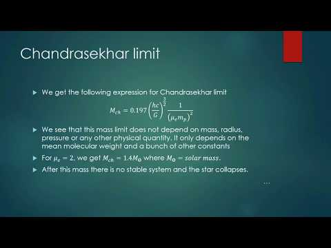 Chandrasekhar Limit Brief derivation with Physics