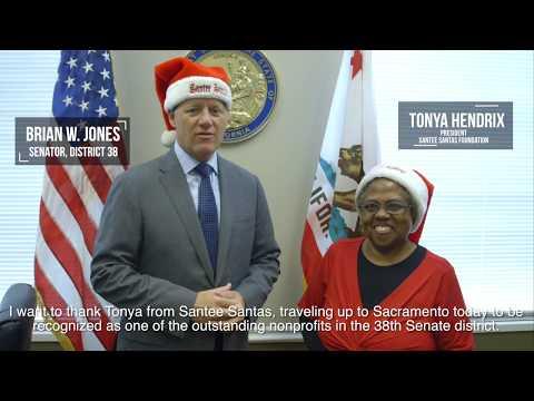 Santee Santas Foundation Recognized as Senate District 38's Nonprofit of the Year