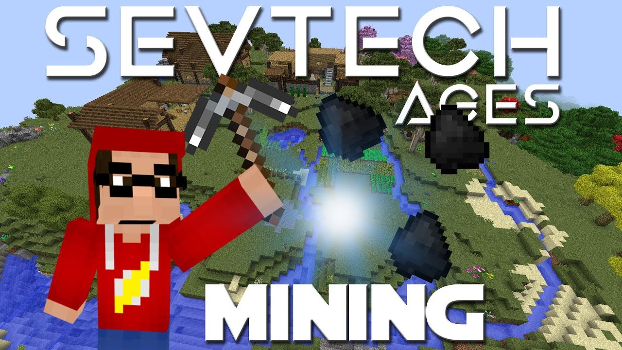 Minecraft SevTech Ages ep 10 - Mining For Coal  Finding