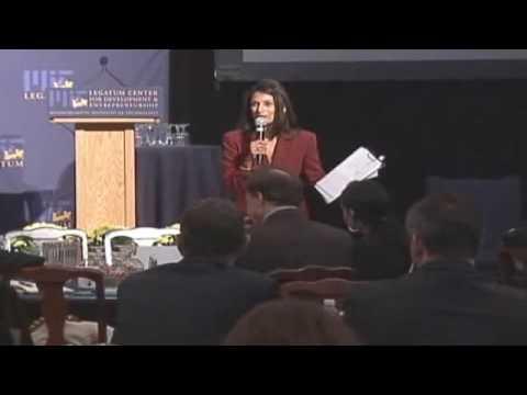 Nisha Pillai - MIT - the Launch of the Legatum Centre
