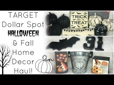 Target Dollar Spot Homegoods Halloween Fall Decor Haul 2016 Yourepeat