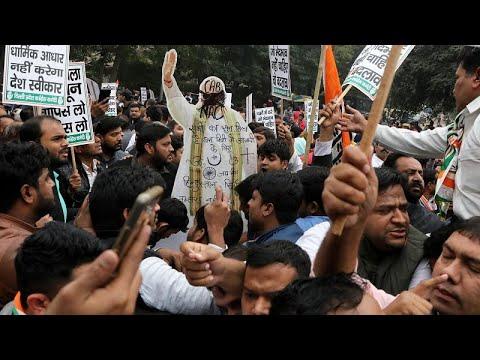 البرلمان الهندي يصادق على قانون يمنح الجنسية للمهاجرين غير المسلمين …  - 09:58-2019 / 12 / 12