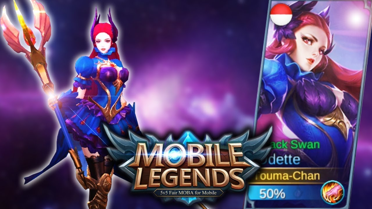 NEW SKIN ODETTE BLACK SWAN CANTIK PARAH MOBILE LEGENDS INDONESIA 14 YouTube