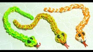 Плетем 3D змейку из резинок часть 2