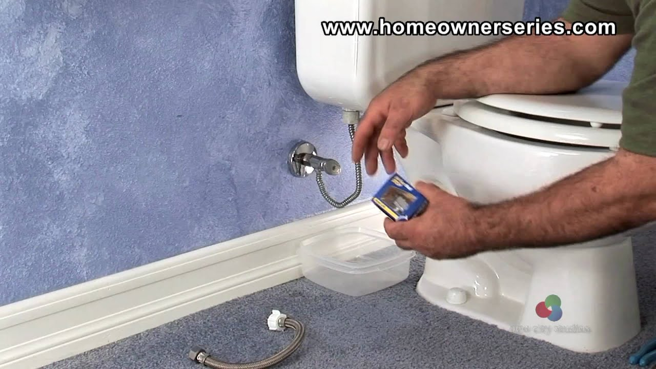 How to Fix a Toilet - Water Supply Valve Replacement ...