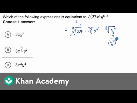 Radical and rational exponents — Basic example | Math | SAT | Khan Academy