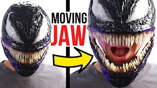Venom Mask With MOνING MOUTH! *How To Make*