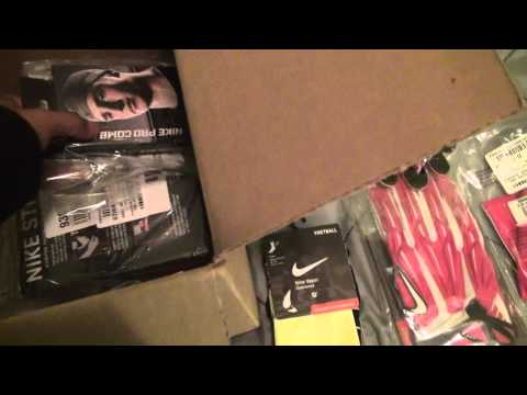 eastbay unboxing NEW football gear *pink