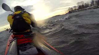 Winter Sea Kayaking & Breaking Through Ice
