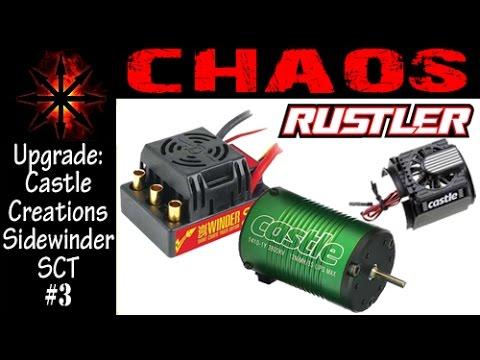 Traxxas Rustler- Castle Creations Sidewinder SCT 3800kv Motor/ESC Combo  [Chaos]