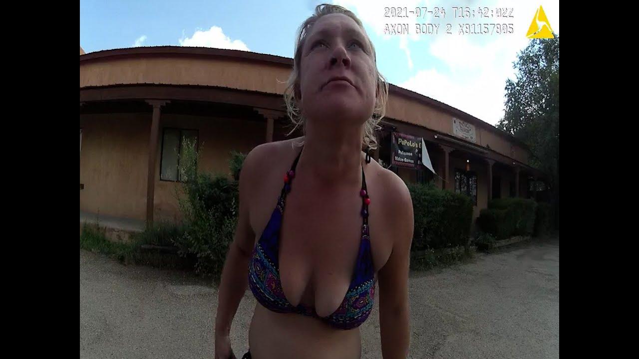 Bikini Clad Trespasser wants to date responding Officer