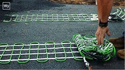 Electric Snow Melting system installed in an Asphalt Driveway