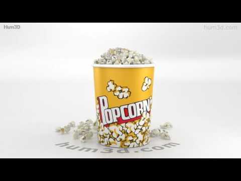 Popcorn 3D model by Hum3D com