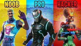 NABBO vs PRO vs HACKER! 😱😂 Fortnite - Dichii