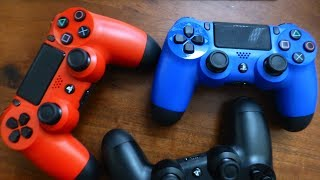 [unboxing] Magma Red and Wave Blue Dualshock 4 controllers