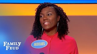 OMG! Mekael's SEXY answer gets Steve HOPPING! | Family Feud