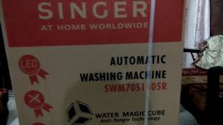 Singer Automatic Washing Machine part 1 of 2- Unboxing