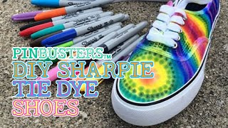 DIY Sharpie Tie-Dye Shoes // IS THIS PINTEREST PIN THAT EASY?