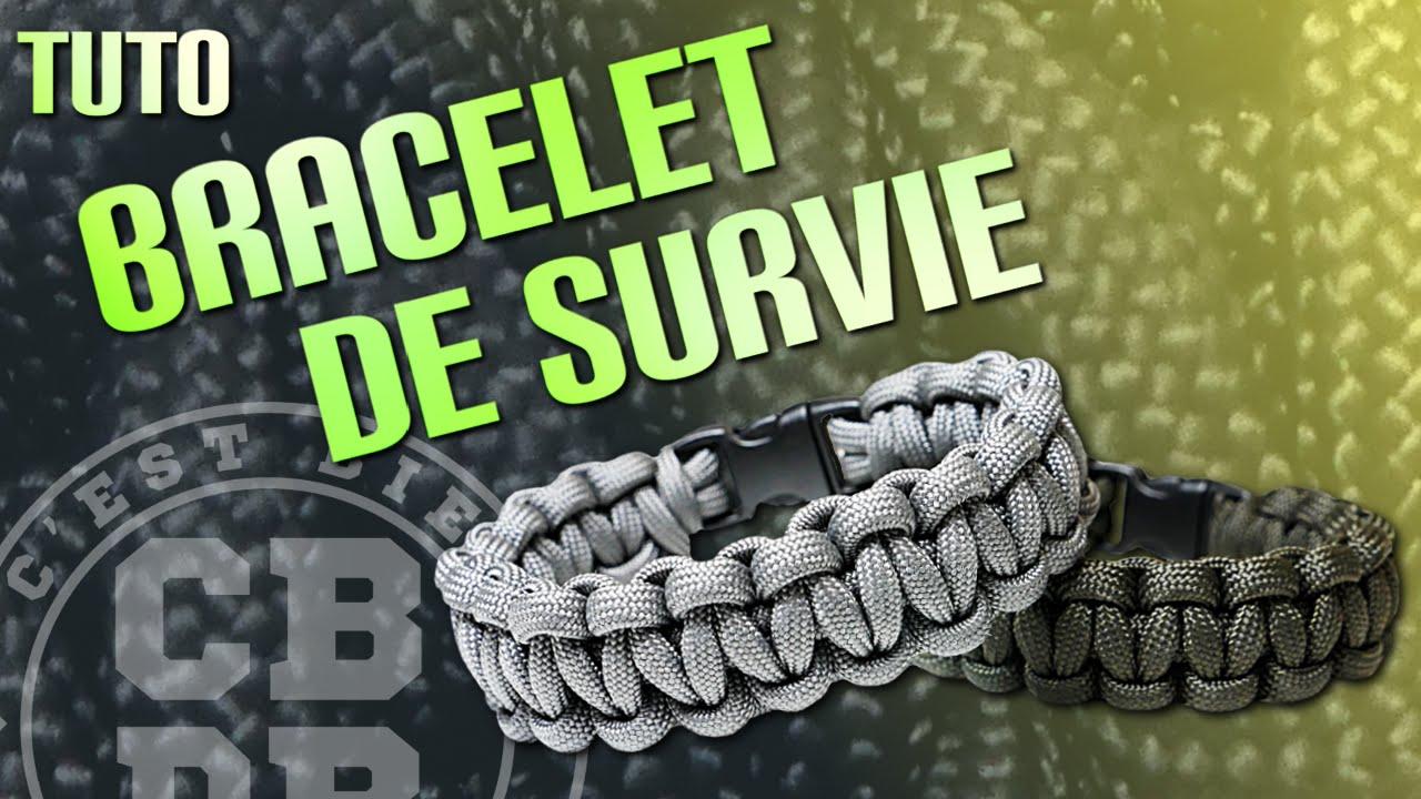 Préférence TUTO - Bracelet de survie en Paracord type Cobra - YouTube PL31