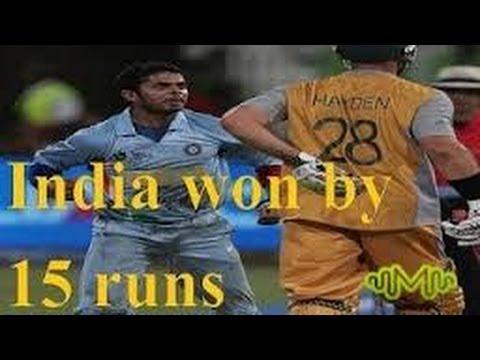 india vs Australia 2007 t20 World Cup semi final full match highlights