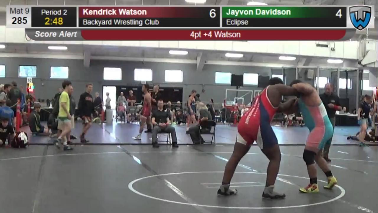198 junior men 285 kendrick watson backyard wrestling club vs