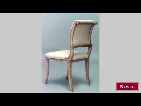 Antique Set of 6 French 1940s sycamore side chairs with