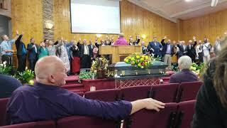 Apostle Greene's Funeral, Pastors singing.
