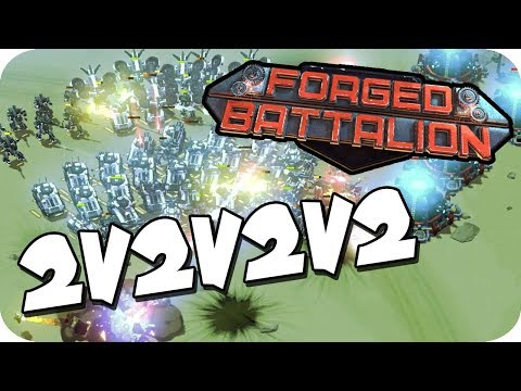 CRAZY, EPIC BATTLE!  ► Forged Battalion Multiplayer 2v2v2v2 Gameplay